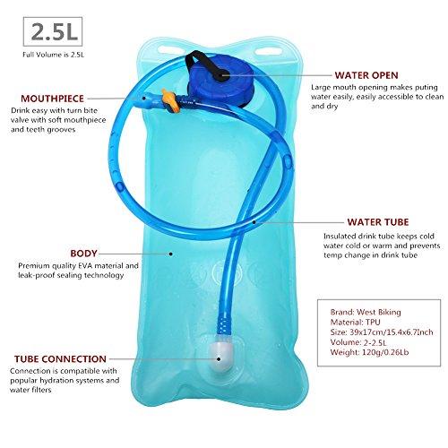 West Biking Hydration Rucksack mit 2