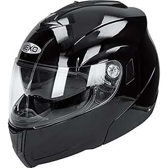 Nexo Klapphelm Motorradhelm Vollvisierhelm Klapphelm Basic schwarz XS