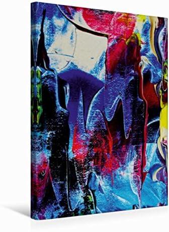 Premium Textile Toile de de de 30 cm x 45 cm de haut rouge et bleu en harmonie a88ac0