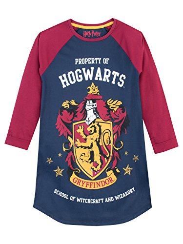 Harry Potter Camicia da notte delle ragazze Gryffindor Multicolore 10 11 Anni