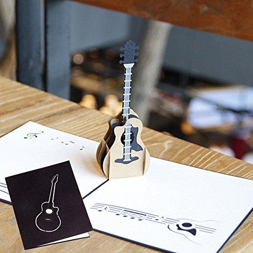 ALINT Zeremonie der neuen Straße handgemachte dreidimensionale Gruß Geschenk Urlaub Geschenkkarte maßgeschneiderte Musik Gitarre Urlaub Karte