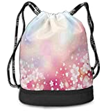 COOABC Japanese Nature Sakura Tree Color Drawstring Bag Backpack Bundle Backpack
