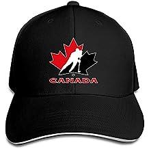 Hittings TopSeller Unisex Canada National Ice Hockey Team Logo Adjustable Peaked Baseball Caps Hats Black