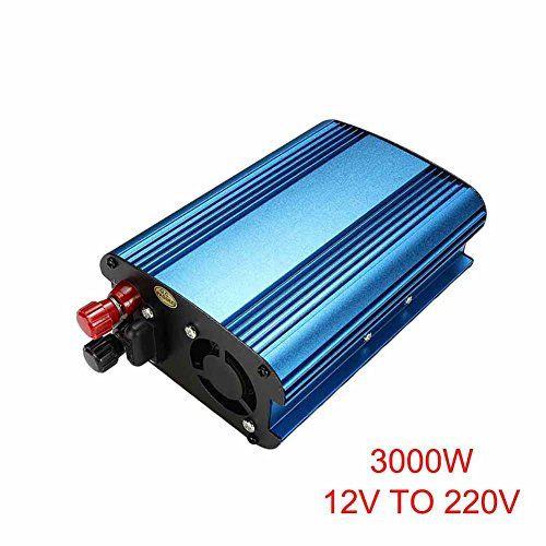 lzndeal Convertisseur d'énergie Solaire de Voiture de 3000W / 4000W DC 12 / 24V à CA 220V convertisseur d'onde sinusoïdale modifié