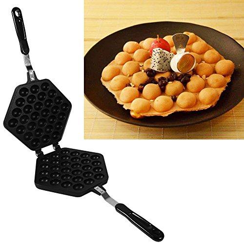 Gofrera Bubble Waffle antiadherente para cocina de gas