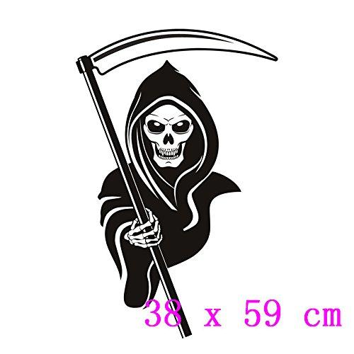 BB.er Halloween Horror Schädel Wandaufkleber Büro Dekoration PVC-Aufkleber, 38 x 59 cm