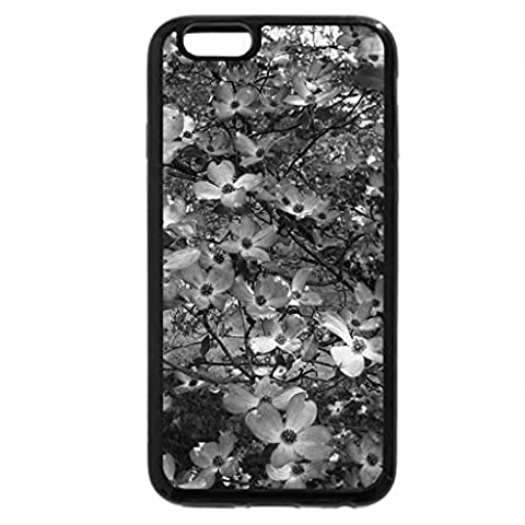iPhone 6S Plus Coque, iPhone 6 Plus Coque (Noir et Blanc) – Rose Arbre de cornouiller