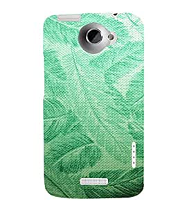 ARTISTIC LEAVES PATTERN DEPICTING THE BEAUTY OF NATURE 3D Hard Polycarbonate Designer Back Case Cover for HTC One X :: HTC One XT :: HTC 1X