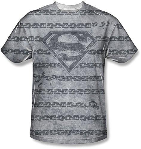 Superman-Catena da carico All Over-T-Shirt Bianco