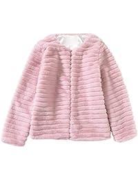 a93fda9a1c1 POLP Abrigos mujer Abrigos Pelo Mujer Invierno Rosa Caliente Chaqueta Manga  Larga Capucha Abrigos de Pelo