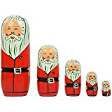 ITOS365 Hand Painted - Nesting Doll - Wooden Decoration Gift Doll - Stacking Nested Wood Dolls For Kids - Set Of 5 (5 Dolls In 1)