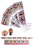 4 x Packungen Schreibset Design Prinzessin Kinder Schule Briefpapier Set.4