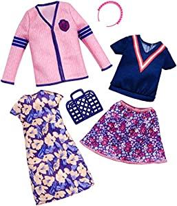 Barbie - Ropa muñeca Fashionista, vestido de flores (Mattel FKT29)