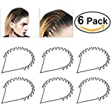 BESTOYARD Hair Hoop Band Black Wavy Metal Hoop Hair Band Unisex Girl Men's Head Band Accessory 6pcs