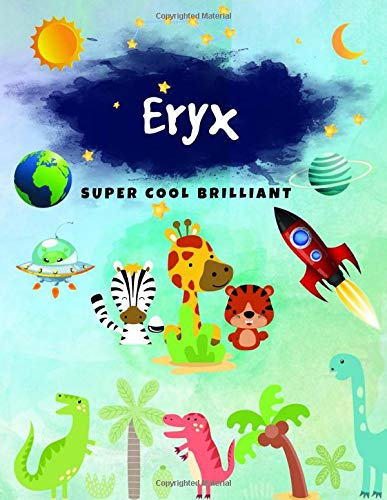 Eryx: Journal, Sketchbook and Notebook Gifts for Boys & Kids - Composition Size (8.5