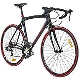 700C 28 Zoll Rennrad Viking Vuelta Sti 4 Rahmengrößen 2 Farben , Farbe:schwarz/rot, Rahmengrösse:62 cm