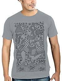 Tantra Mens 100 % Super Soft Combed Cotton Hanu-Man Print Half Sleeve Printed T-shirt