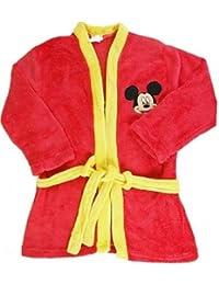 Bademantel Kinder Microfaser Mickey Mouse rot Größe 98 / 104 Kinder Frottee Mikrofaser