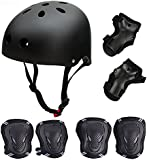 Skateboard / Skate Protection Set with Helmet--SymbolLife Helmet with 6pcs Elbow Knee Wrist Pads for Kids BMX/ Skateboard / Scooter, For Head Size S (55-57cm), M (58-60cm), L (61-63cm)
