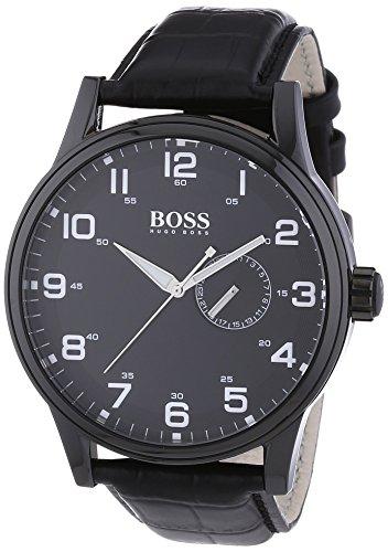 Hugo Boss 1512833 – Reloj analógico de cuarzo para hombre con correa de piel, color negro