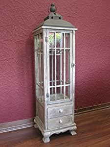 holz laterne antik braun riesige 126 cm gro tolle deko. Black Bedroom Furniture Sets. Home Design Ideas