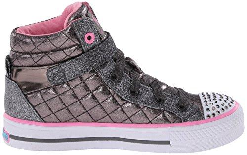 Skechers Shuffles Sweetheart, Sneakers Hautes fille Gris