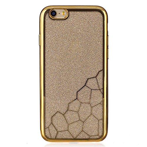 Phone case & Hülle Für iPhone 6 / 6s, Galvanisieren Kleine Würfel TPU Schutzmaßnahmen zurück Fall Fall ( Color : Silver ) Gold