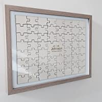 Crafty Gift Company Personalised jigsaw wedding guestbook - 92 pieces including frame