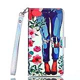 Coque iPod Touch 5 /Touch 6, Coffeetreehouse Design élégant et de Haute qualité en Cuir PU Coque Slim-Fit Smart de Coque avec Card Holder Etui pour iPod Touch 5 /Touch 6(Jeans)
