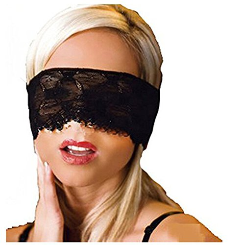 EQLEF® Midnight Black Lace Ecstasy femminile sonno Eye (Sonno Eye Mask)
