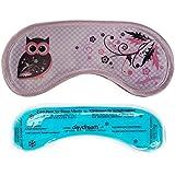 daydream Owls Swirls Schlafmaske mit Kühlkissen/Coolpack