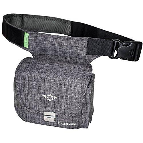 COSYSPEED Kameratasche mit Hüftgürtel Camslinger Streetomatic Fototasche für Kompakt-/Systemkameras + zusätzliches Objektiv New York Grey
