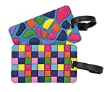 Travelon Set of 2 Luggage Tags Jewel Mosaic, Multi, One Size