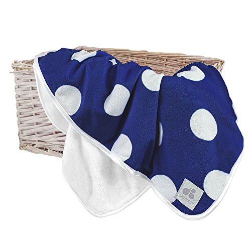 Just Born 44516L - Mantita para recién nacido, color azul con topos blancos