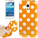 [A4E] per Samsung Galaxy S4 mini (I9190), cover, custodia in robusto silicone con dolce pois modello in diversi colori