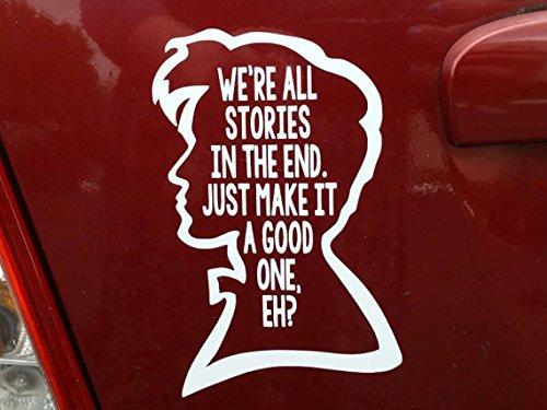 Doctor Who-Zitat (weiß)-Aufkleber für Auto, Laptop, Dye-cut von Boston Deals USA (Dr Aufkleber Who)