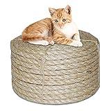 Twisted sisal corde, corde de sisal naturel chat pour le remplacement de l'arbre à gratter, corde...