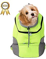 Futurekart Dog or Cat's Carrier Front Backpack for Hiking Outdoor - Green - L