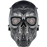 genenric - Máscara de Esqueleto para Airsoft, Juego de CS Paintball, táctica, Militar, Disfraz de Halloween, Color Gris