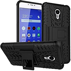 S-Gripline Rugged Shockproof Tough Hybrid Armour Dual Layer Back Cover for Meizu M5 Note