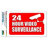 24 Stunde Video Surveillance Mag-Neato 's-TM Vinyl Magnet Schild