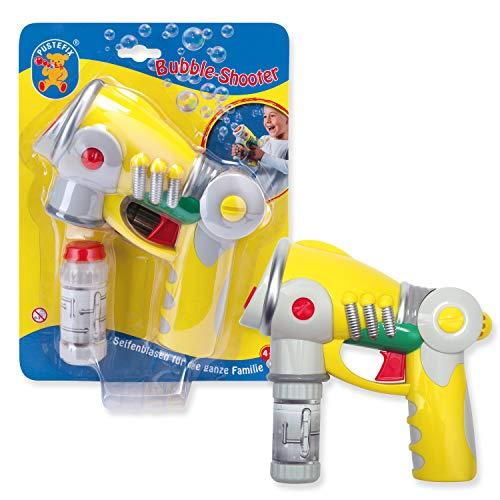 Pustefix Bubble-Shooter I 55 ml Seifenblasenwasser I Bunte Bubbles für Hochzeit, Kindergeburtstag, Polterabend, Standesamt, Sommerparty I Seifenblasen Spielzeug-Pistole für Kinder & Erwachsene
