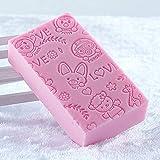 Abito grande, asciugamano da bagno, spugna da bagno forte, ceneri posteriori del bambino, salvietta da bagno per bambini (3 confezioni) Rosa
