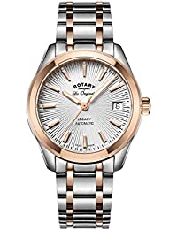 Rotary Women's Automatic Silver Dial Analogue Display and Two Tone Stainless Steel Bracelet LB90167/06