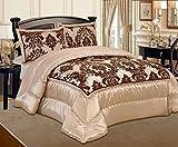 Roman geprägten Tagesdecke, Bettüberwurf, Bettdecke Ornamente Beige Moderne 240*260 3tlg