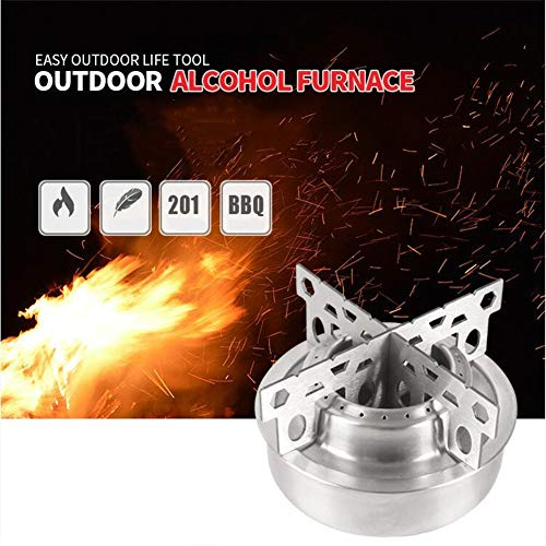 Leoie Outdoor Stainless Steel Alcohol Stove Camping Portable Picnic Stove