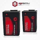 Pack 2 baterías DMW-BMB9E para PANASONIC LUMIX DC-FZ82, LUMIX DMC-FZ100, LUMIX DMC-FZ150, LUMIX...