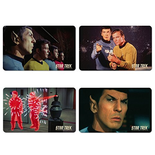 Star Trek - Mr. Spock - Captain Kirk Frühstücksbrettchen 4er Set - farbig - Lizenziertes Originaldesign - LOGOSHIRT