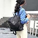 NSSTB Women's Fashion Oxford Cloth Rucksack Einfache Tasche Große Kapazität Reisetasche,Black-31 * 13 * 33cm