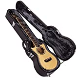Lindo Voyager Guitare électro-acoustique de voyage en épicéa massif Préampli/Accordeur LCD et étui rigide moulé avec sv-m700Mélange